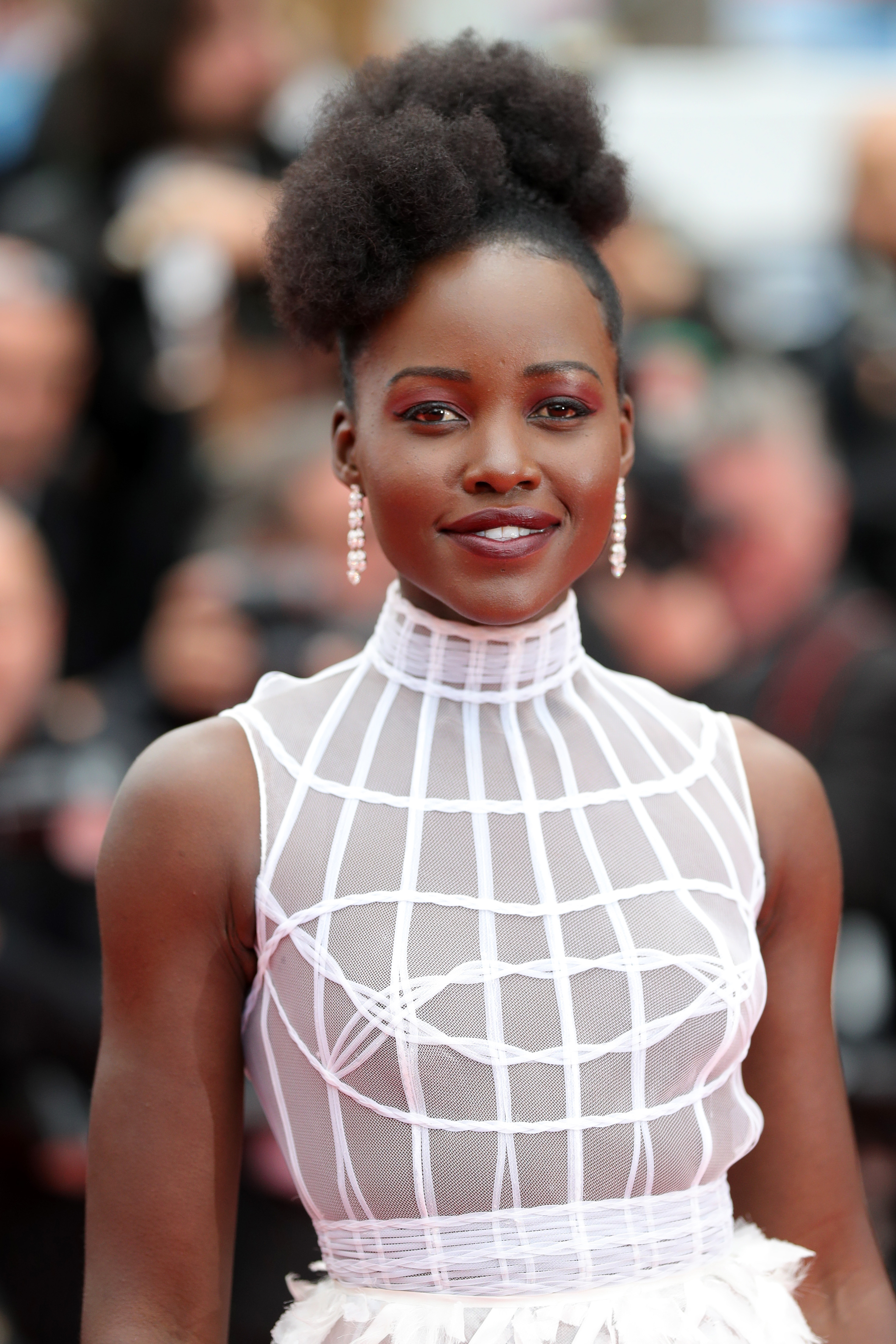 Lupita Nyong'o attends the screening of 'Sorry Angel (Plaire, Aimer Et Courir Vite)' during the 71st annual Cannes Film Festival at Palais des Festivals on May 10, 2018 in Cannes, France.