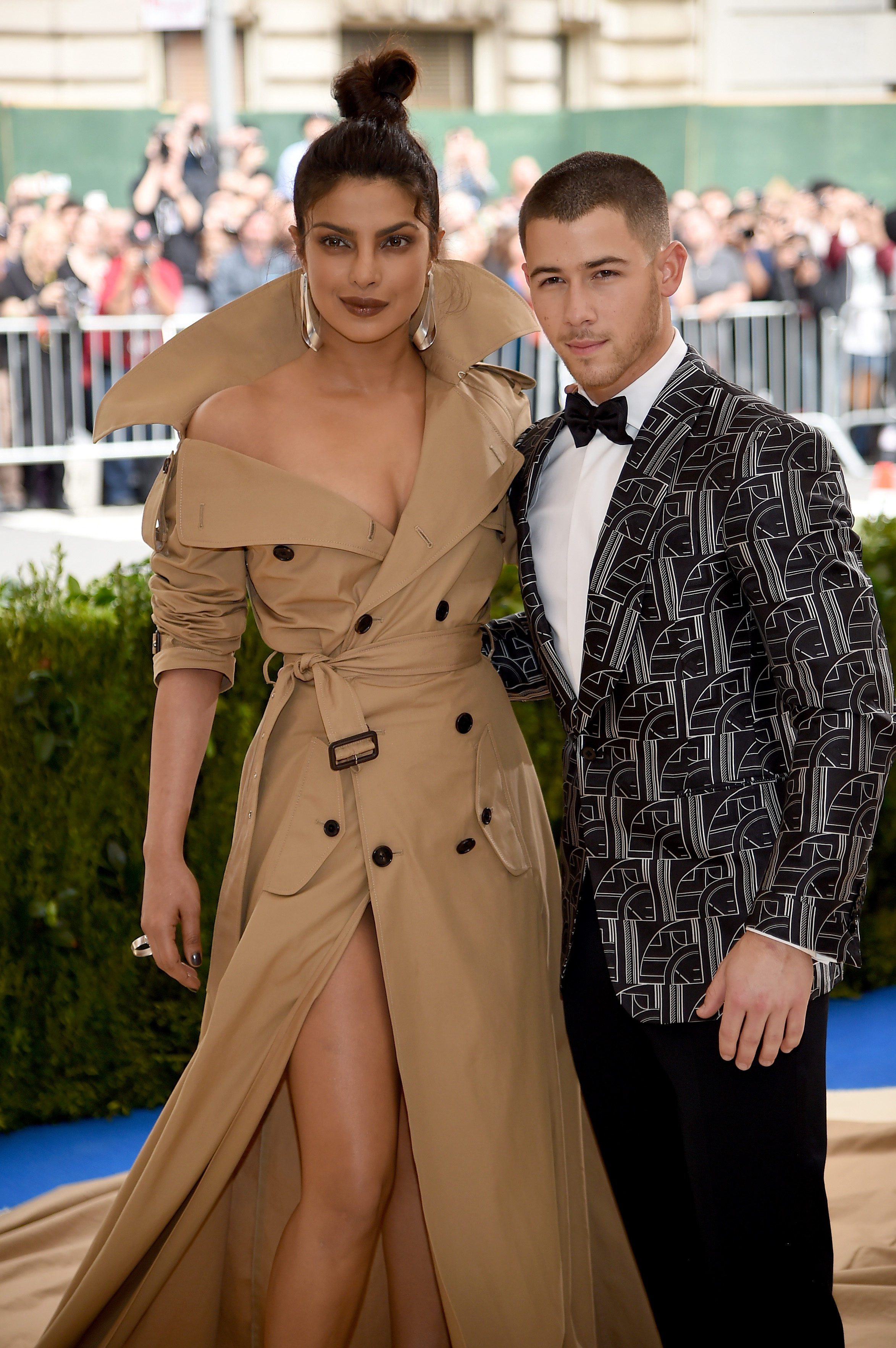 Priyanka Chopra (L) and Nick Jonas attend the 'Rei Kawakubo/Comme des Garcons: Art Of The In-Between' Costume Institute Gala at Metropolitan Museum of Art on May 1, 2017 in New York City.