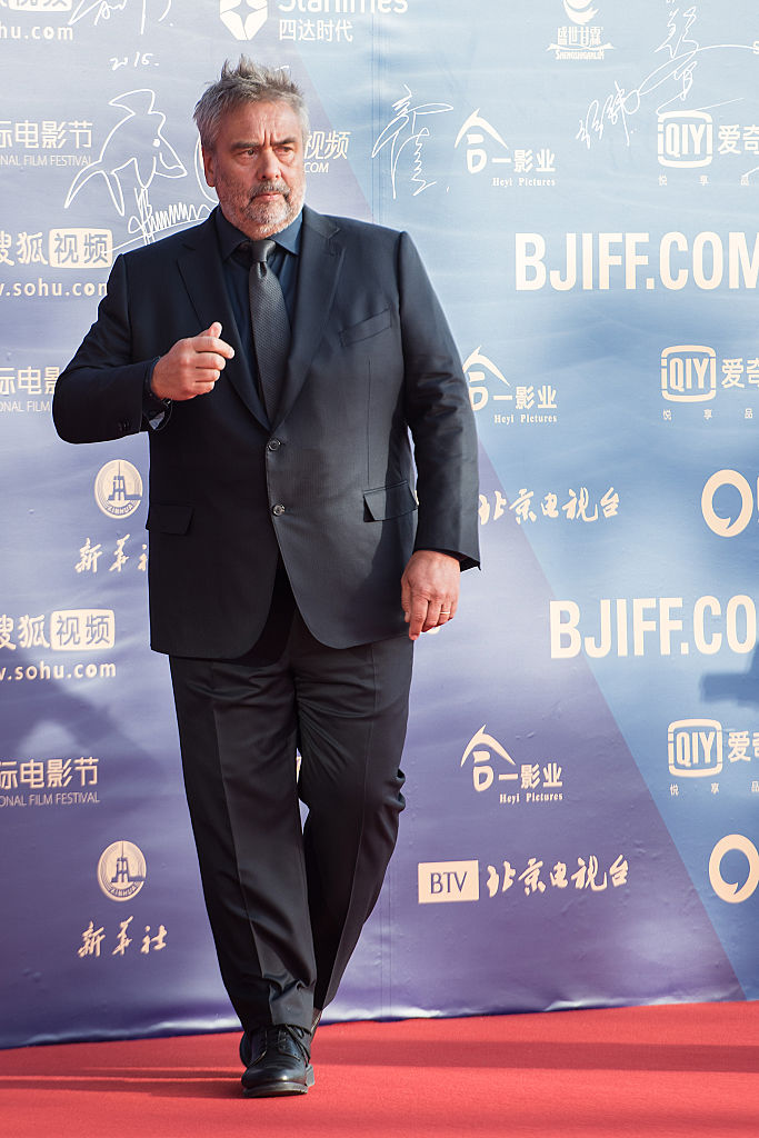Director Luc Besson arrives for the red carpet of 5th Beijing International Film Festival at International Convention & Exhibition Center on April 16, 2015 in Beijing, China. (Photo by Xiaolu Chu/Getty Images)