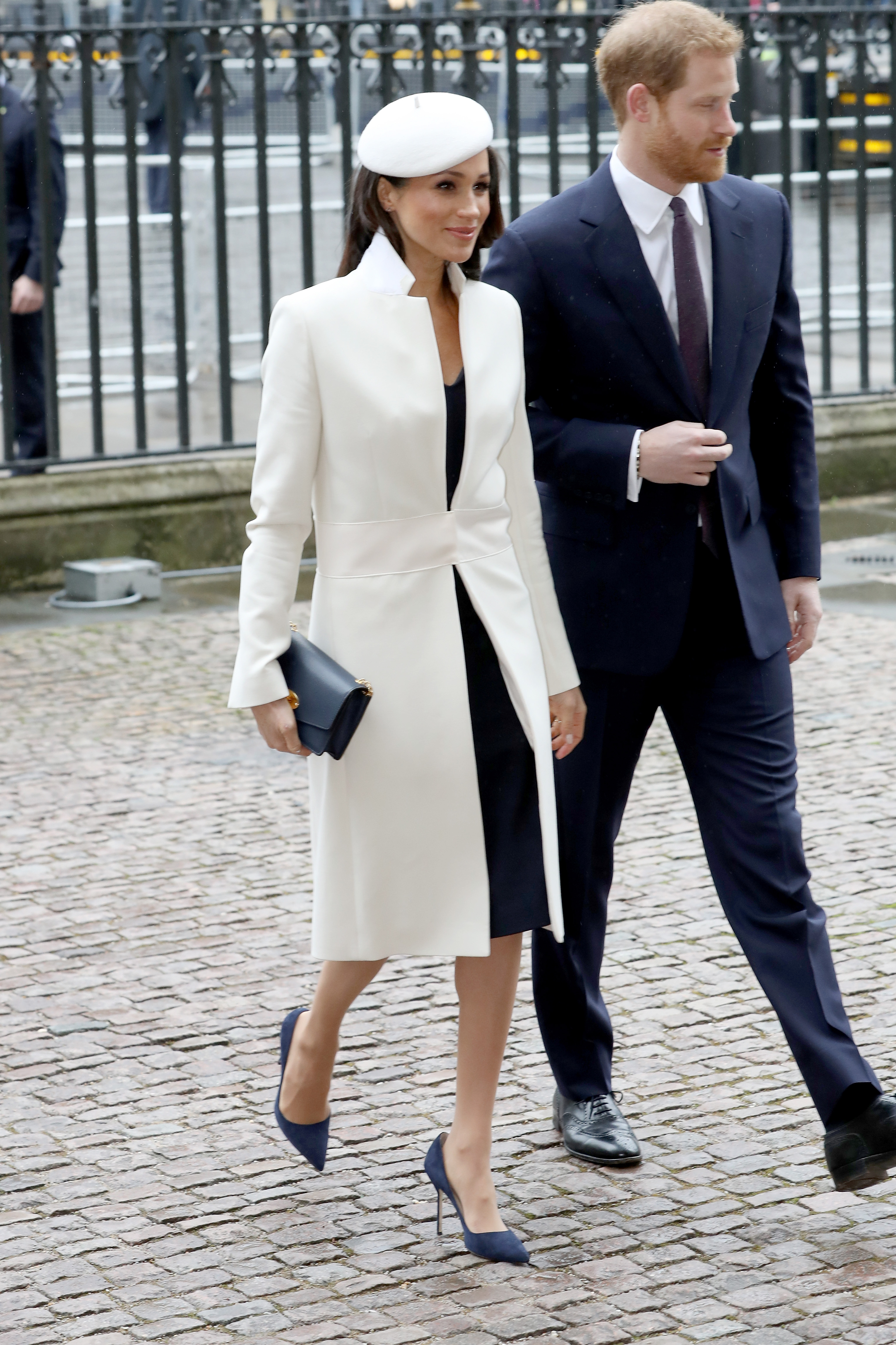 (L-R) Meghan Markle and Prince Harry attend the 2018 Commonwealth Day service at Westminster Abbey on March 12, 2018 in London, England.