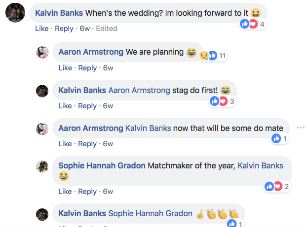 Sophie Gradon and Aaron Armstrong were planning their wedding (Source: Aaron Armstrong, Facebook)