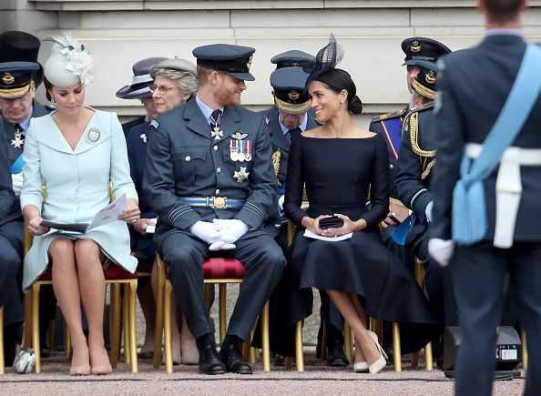 Meghan Markle probably has her own way of sitting, a style being referred to as 'the Sussex Sit'. (Getty Images)