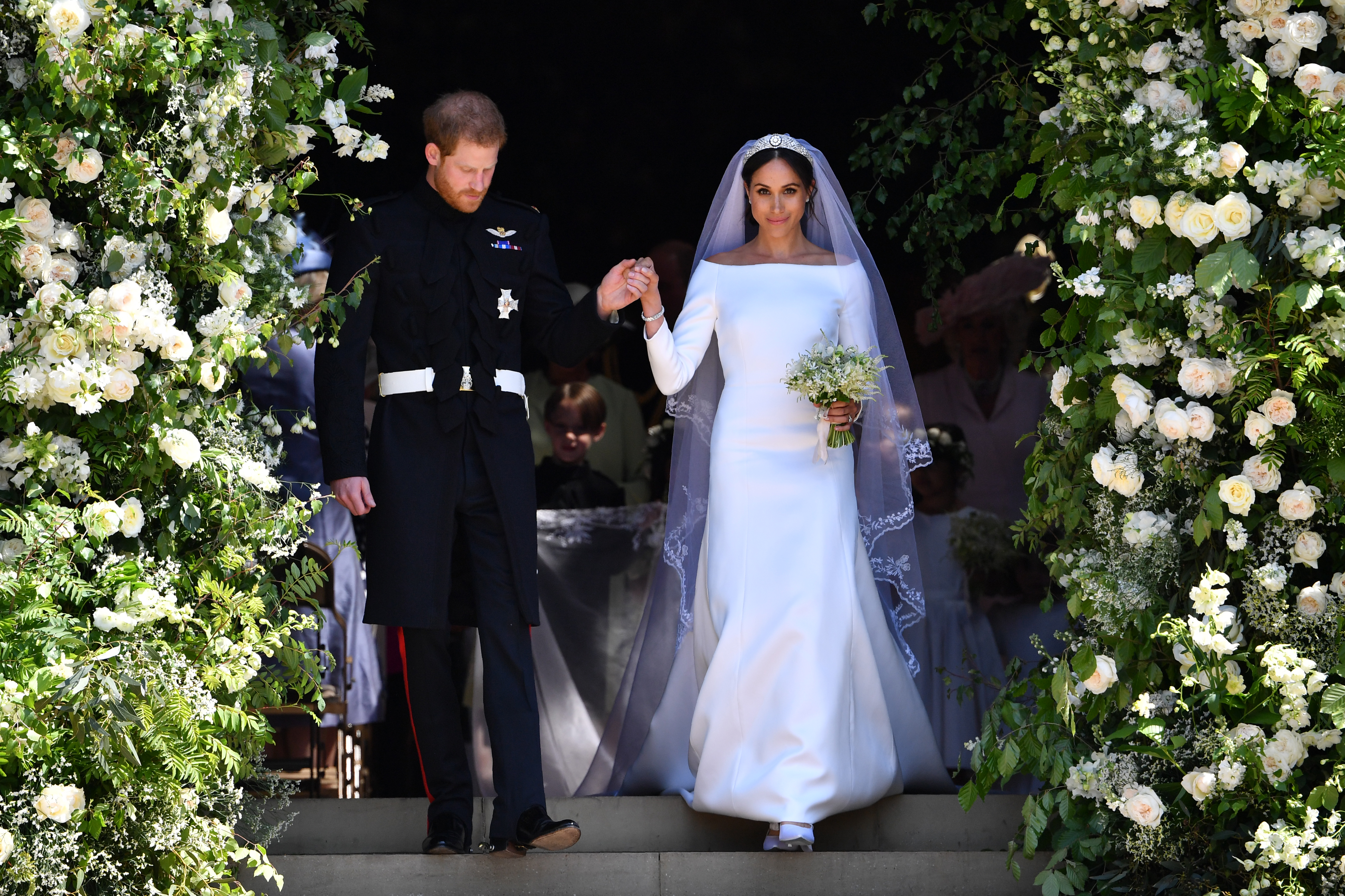 Prince Harry and Meghan Markle on their wedding day (Source: Getty Images)