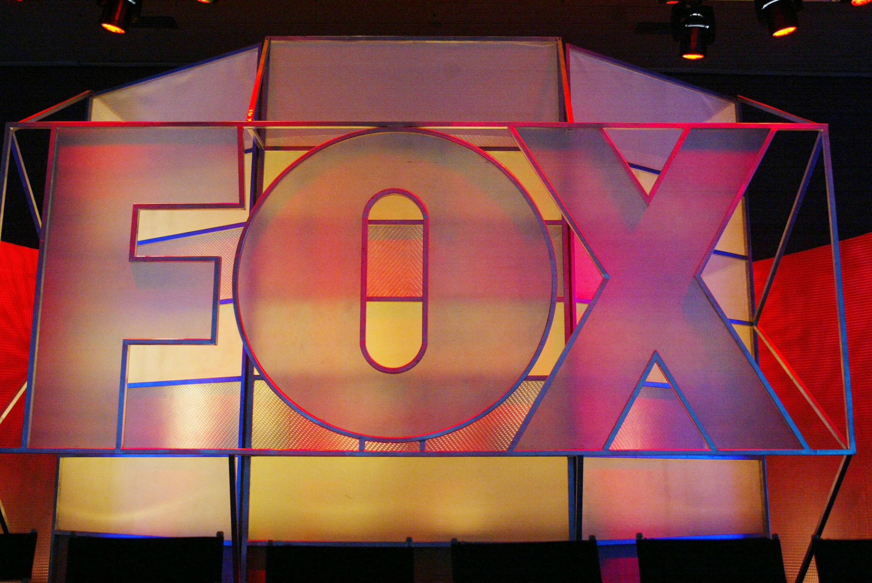 The Fox Network logo is displayed during the 2005 Television Critics Winter Press Tour at the Hilton Universal Hotel on January 17, 2005 in Universal City, California (Getty)