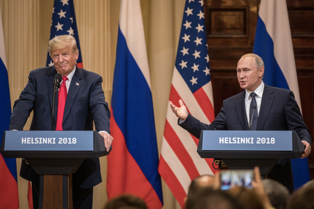 Arnold thought Trump stood there like a fanboy while meeting Putin (Photo by Chris McGrath/Getty Images)