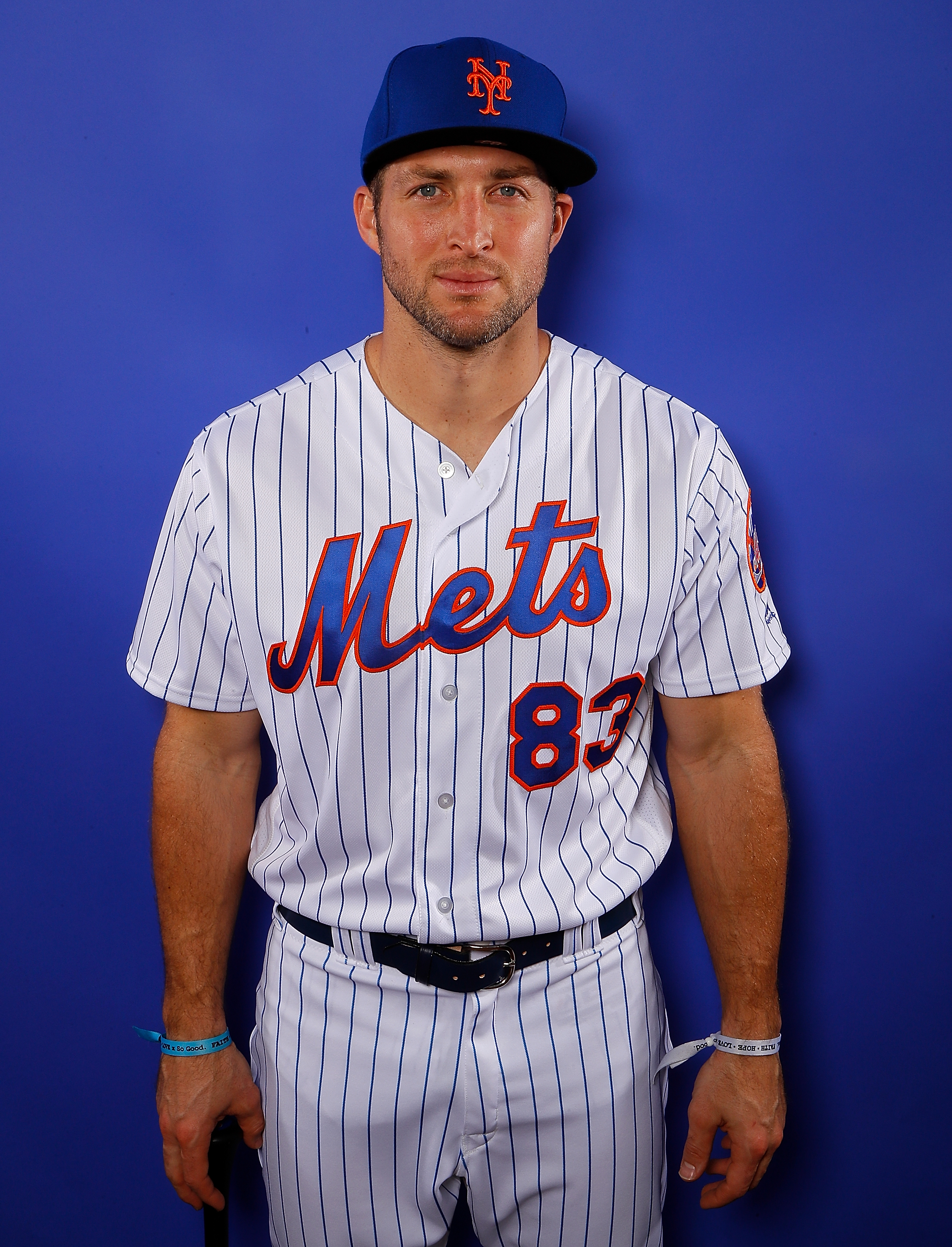 Tim Tebow #83 of the New York Mets poses for a photo during photo days at First Data Field on February 21, 2018 in Port St. Lucie, Florida. (Getty Images)