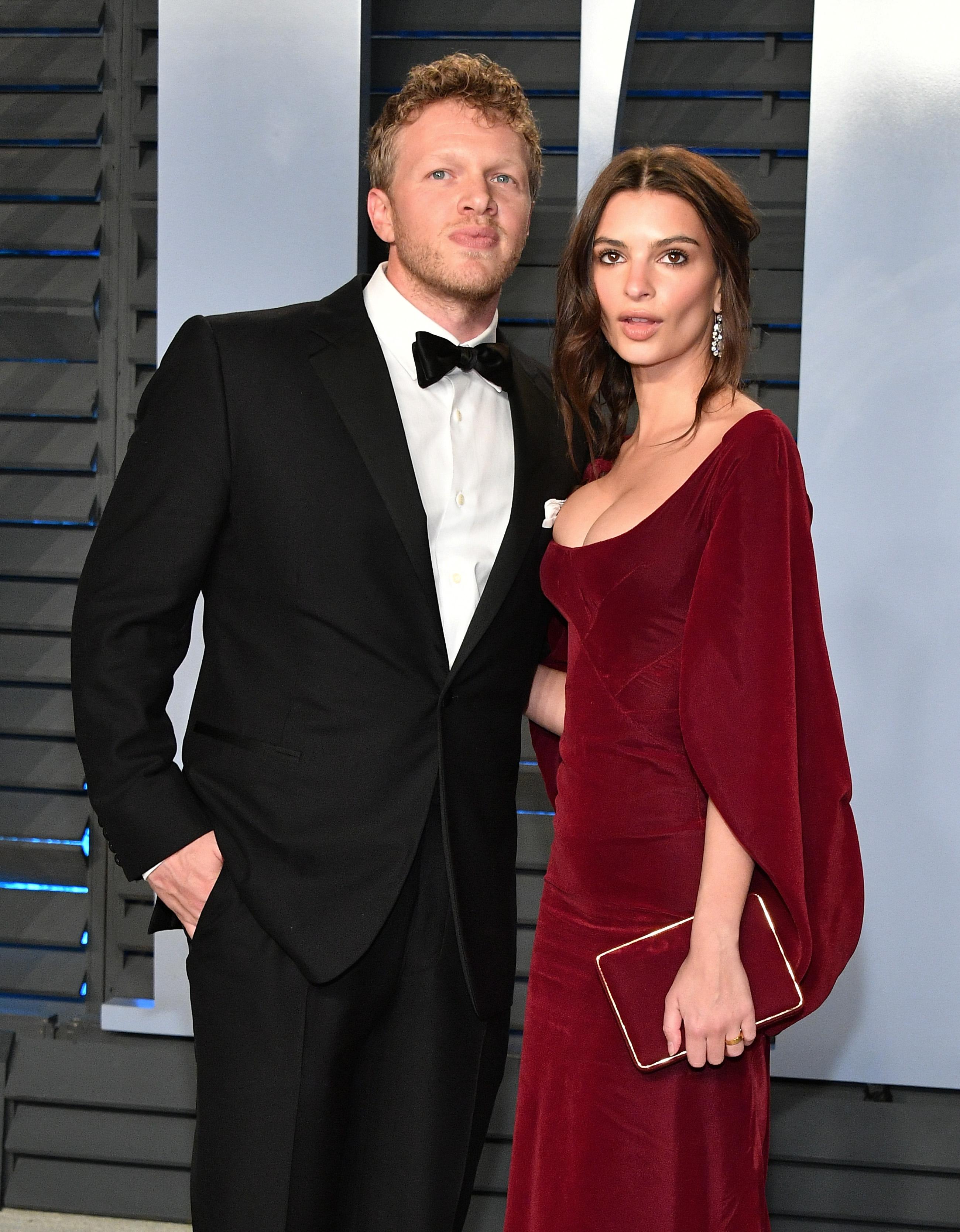 Emily Ratajkowski and Sebastian Bear-McClard (Source: Getty Images)