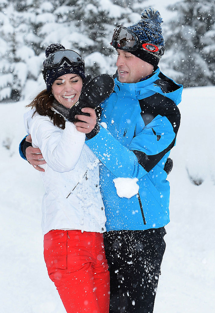 Prince William and Kate Middleton on March 3, 2016 in the French Alps, France. (Photo by John Stillwell - WPA Pool/Getty Images)