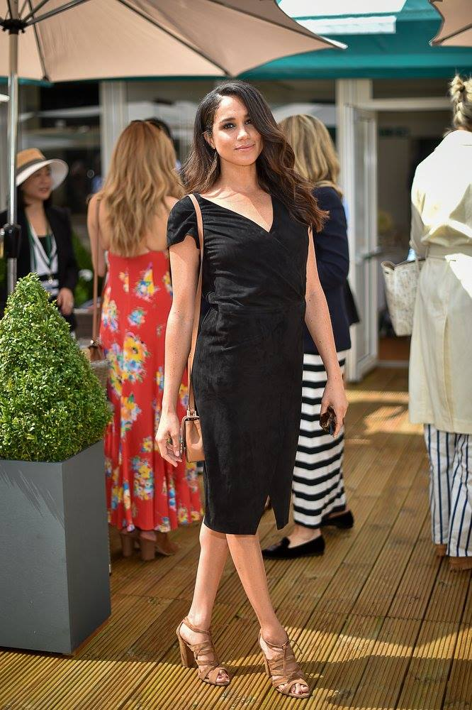 Meghan was wearing a black dress at the games in 2016 when she went on a blind date with Prince Harry (Getty Images)