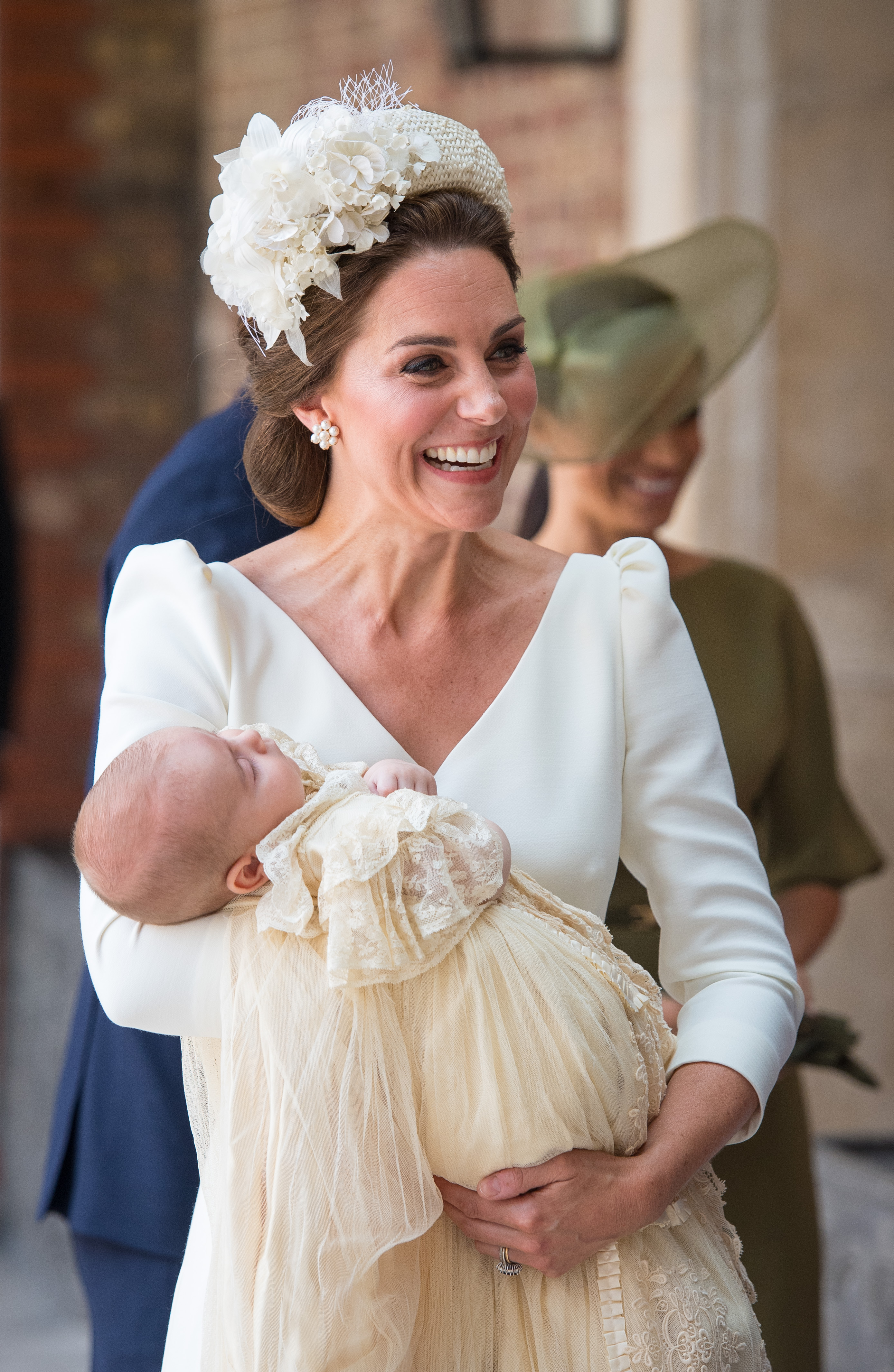 Kate Middleton at Prince Louis christening (Source: Getty Images)