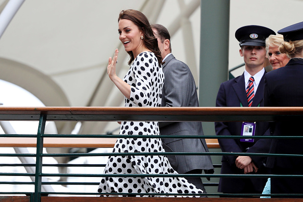 Polka dots seem to be a style statement for Kate (Getty Images)