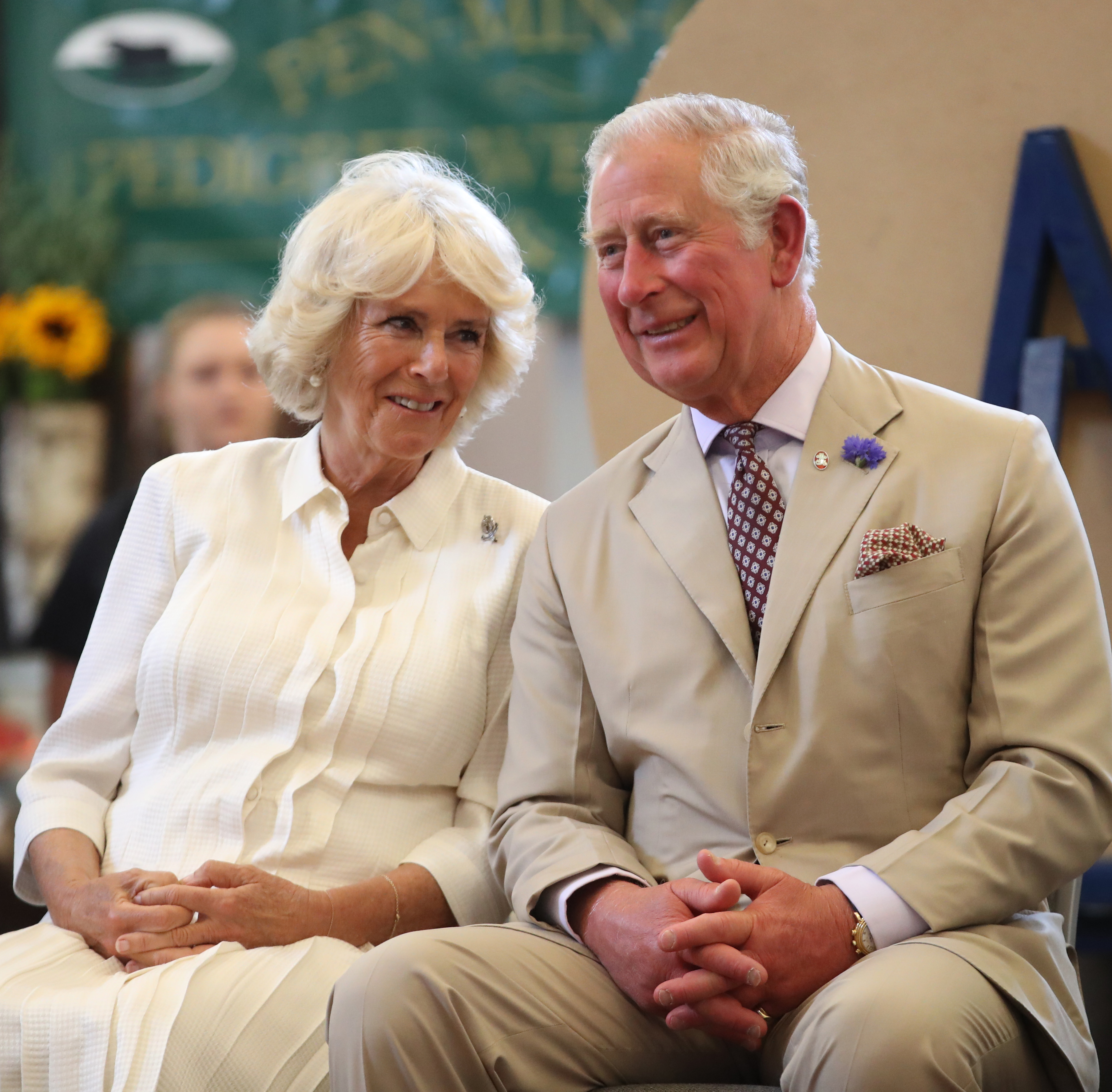 Prince Charles, Prince of Wales and Camilla, Duchess of Cornwall reopen the newly-renovated Edwardian community hall The Strand Hall during day three of a visit to Wales on July 4, 2018 in Builth Wells, Wales.