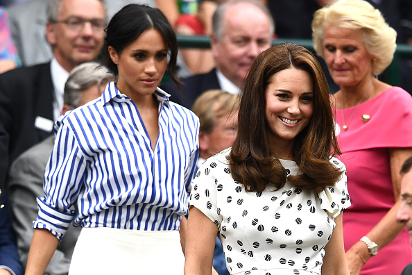 Kate and Meghan kept their outfits for the day simple and comfortable (Getty Images)