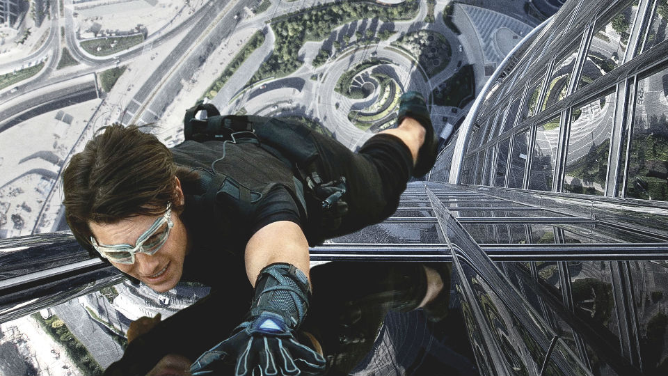 Tom Cruise playing Ethan Hunt