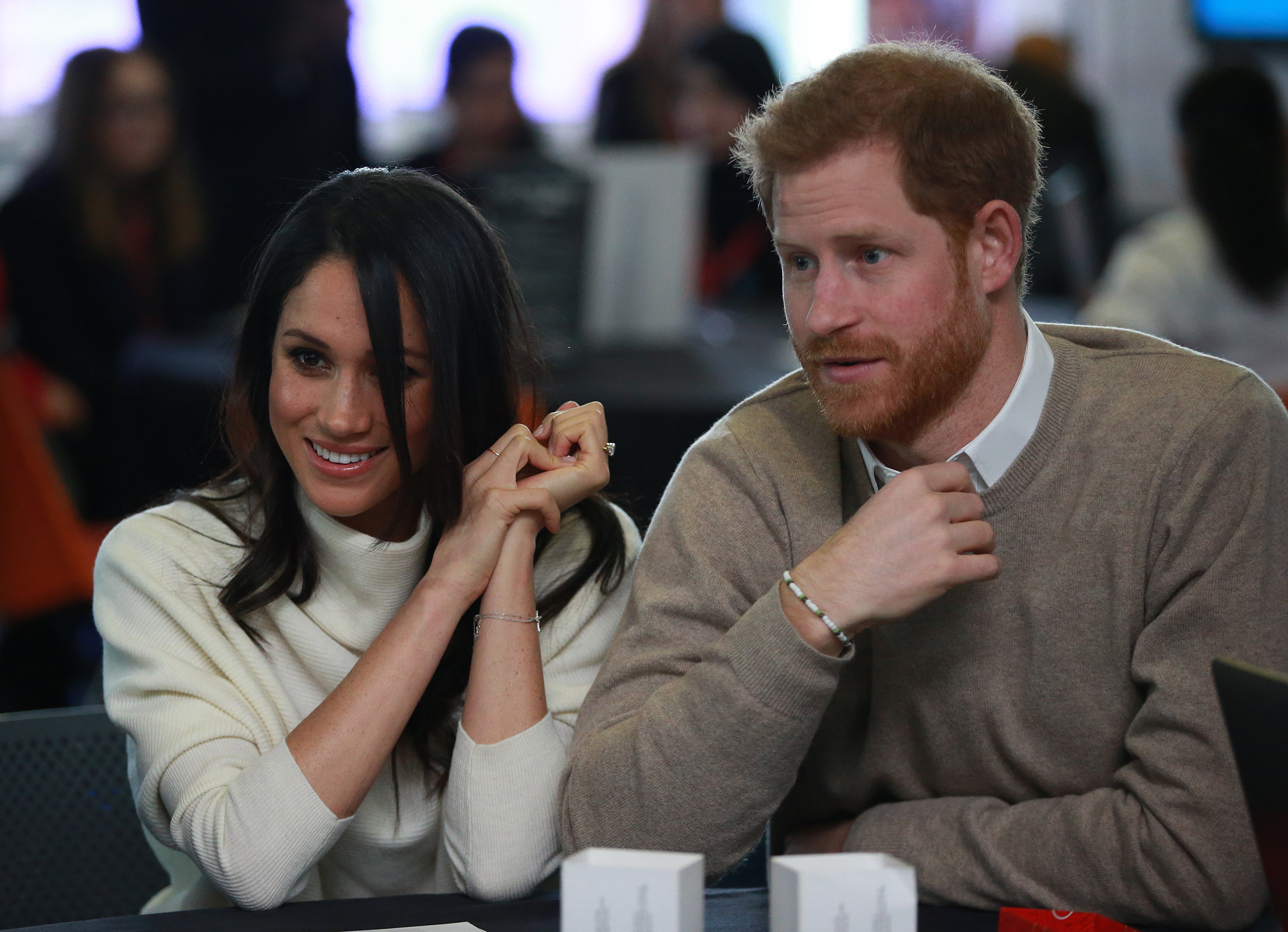 Prince Harry and Meghan Markle visit Millennium Point to celebrate International Women's Day on March 8, 2018 in Birmingham, England.