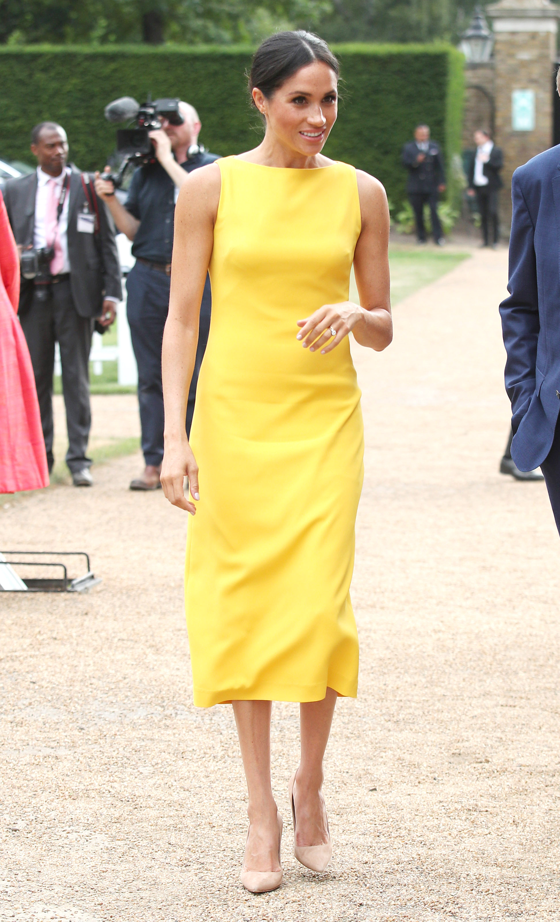 Meghan, Duchess of Sussex attends the Your Commonwealth Youth Challenge reception at Marlborough House on July 05, 2018 in London, England. (Getty Images)