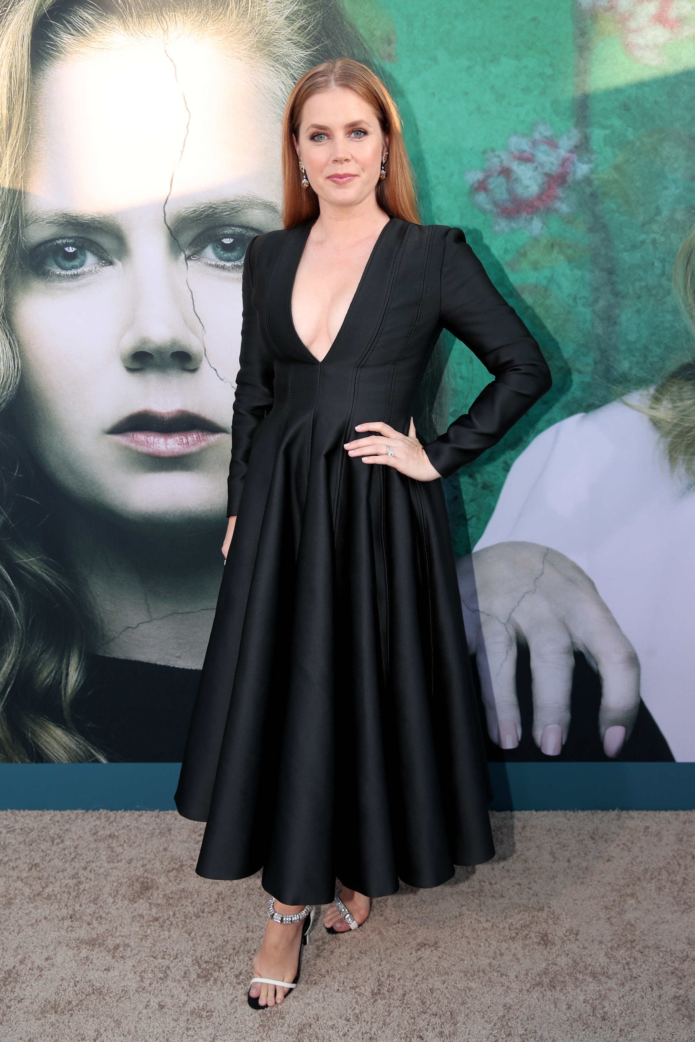 Amy Adams attends the premiere of HBO's 'Sharp Objects' at The Cinerama Dome on June 26, 2018 in Los Angeles, California.