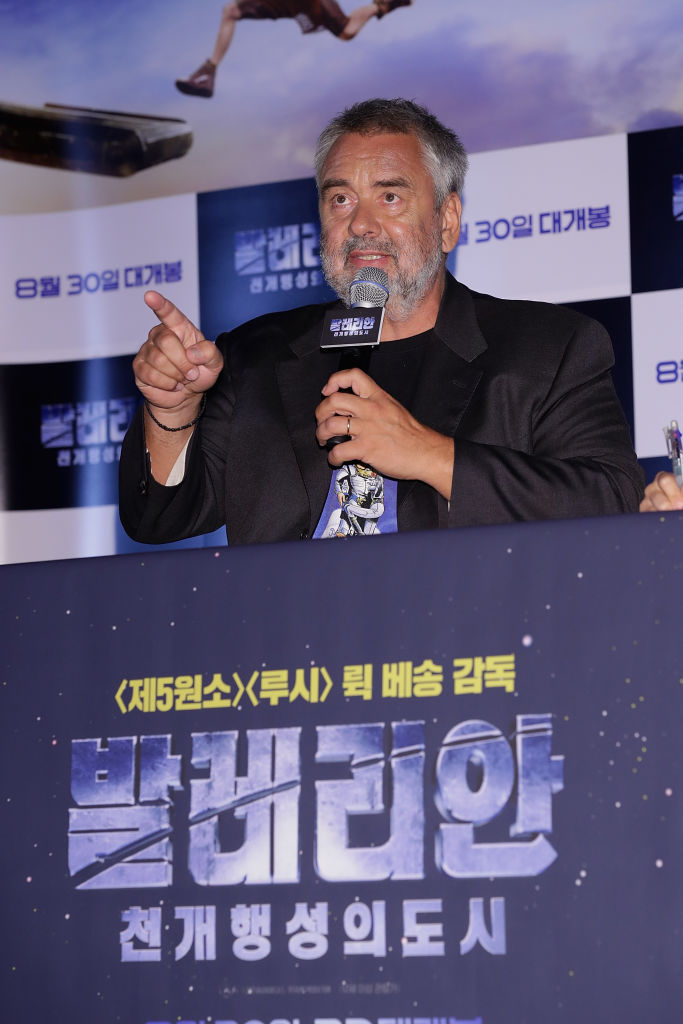 Film director Luc Besson attends the film 'Valerian' press conference at Yongsan CGV on August 22, 2017 in Seoul, South Korea. The film will open on August 30, in South Korea. (Photo by Han Myung-Gu/Getty Images)